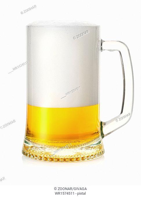 Mug with lager beer