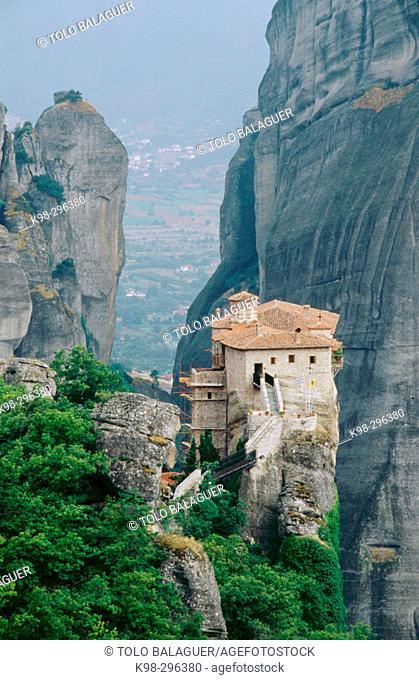 Roussanou Monastery. Meteora. Thessaly, Greece