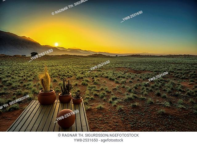Sunset by Wolwedans Dunes Lodge, Namibia, Africa