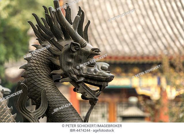 Guard dragon, qilin statue, Summer Palace, Beijing, China