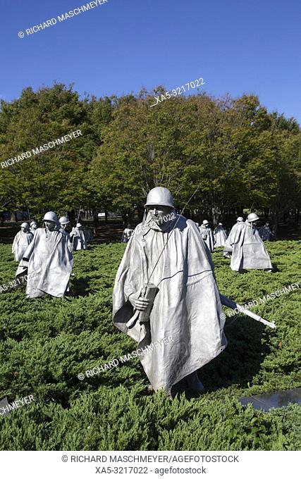 Korean War Veterans Memorial, Waschington D.C., USA