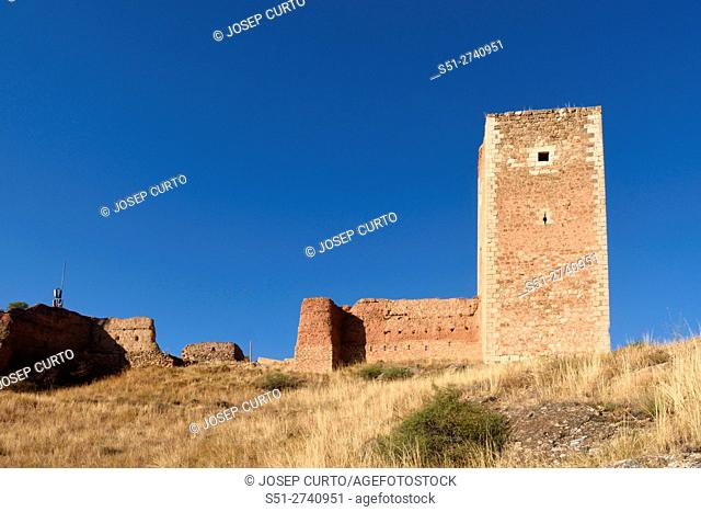 San Cristobal tower in the town walls of Daroca (XIV century) . Zaragoza province, Aragon, Spain