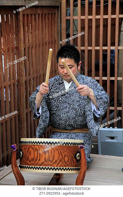 Japan, Kyoto, Gion Matsuri, festival, musician, drummer,