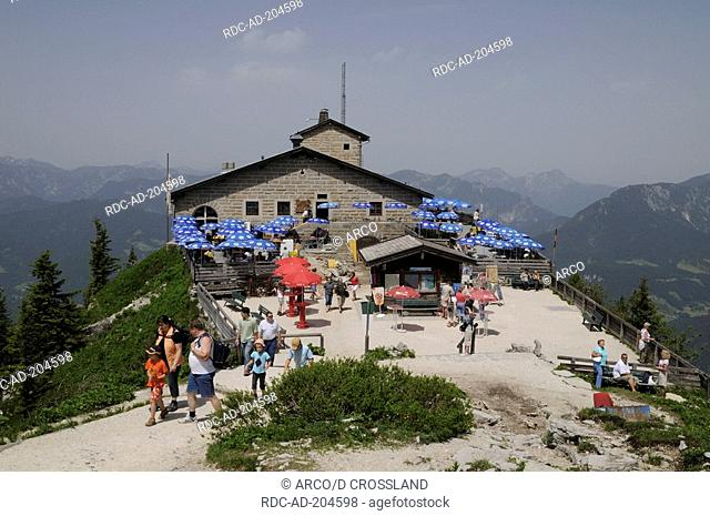 Tourists at 'Eagle's Nest', Berchtesgaden, Bavaria, Germany, Alps, Kehlsteinhaus