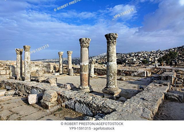 Ruins of the Byzantine Church at the Citadel, Amman, Jordan