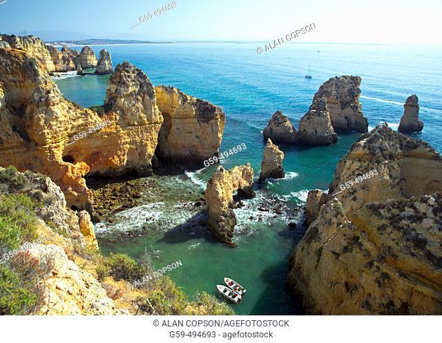 Portugal, Algarve, Lagos, Ponta da Piedade (Point of Pity)