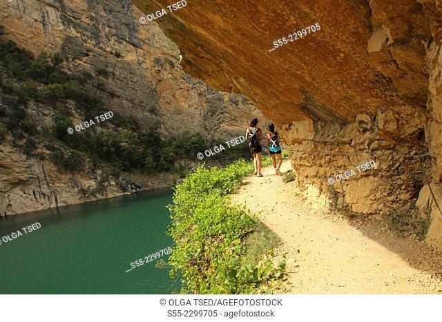 El Congost de Mont-Rebei, at the border of Catalonia and Aragon, Spain