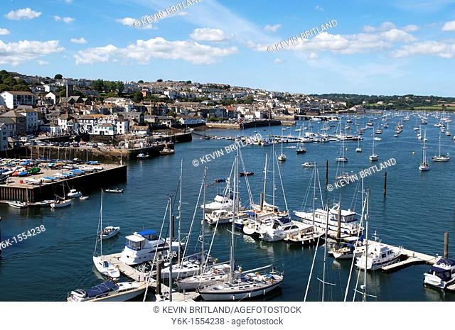 falmouth harbour, falmouth, cornwall, england, uk