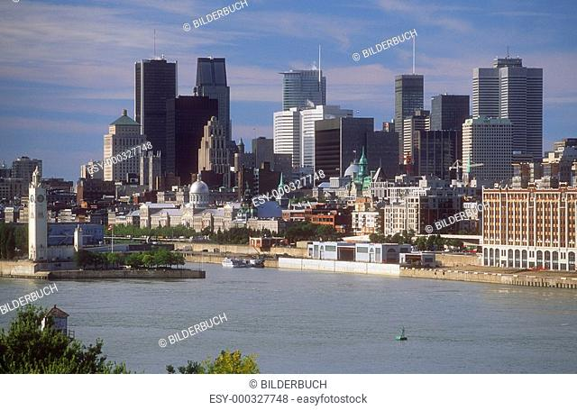 Overview of Montreal, Quebec, Canada