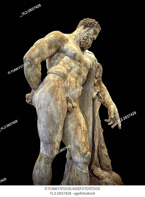 End of 2nd century beginning of 3rd century AD Roman marble sculpture of Hercules at rest copied from the second half of the 4th century BC Hellanistic Greek...