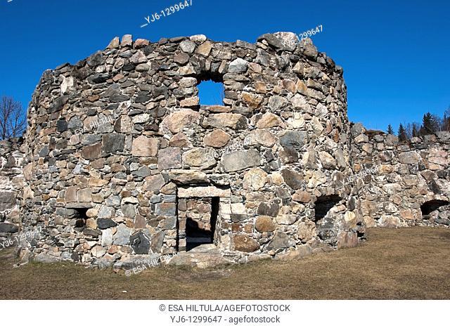 castle ruins in Kajaani Finland
