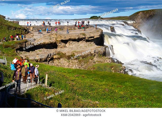 Gullfoss waterfall. Golden Circle. Iceland, Europe