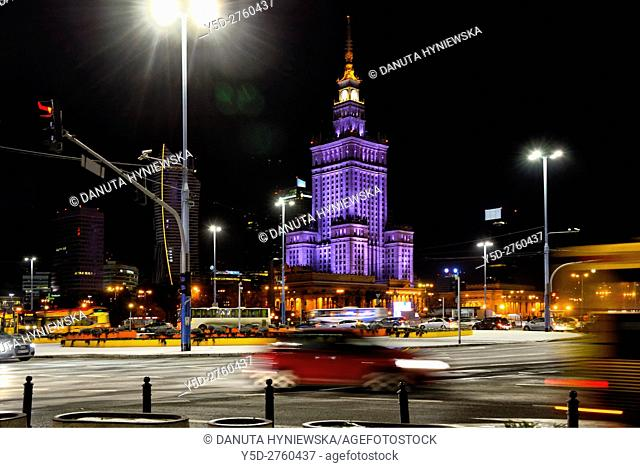 Palace of Culture and Science - gift from Soviet people to Polish nation, given in 1955, designed by Soviet architect Lev Rudnev - one of main Stalinist...