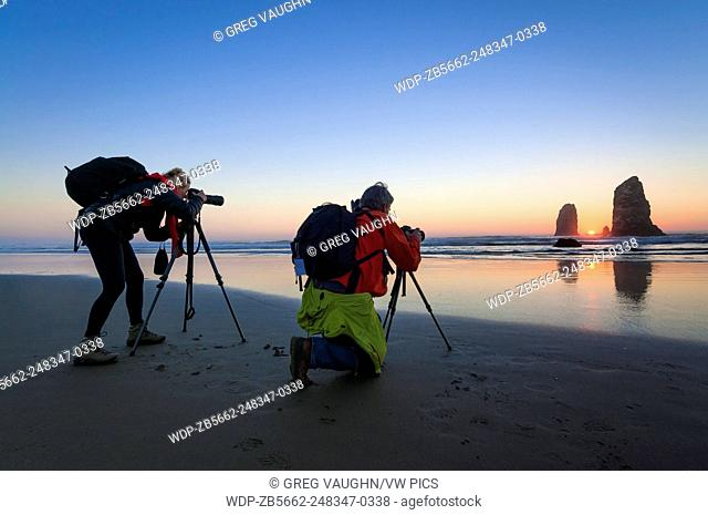 Photographing The Needles at Haystack Rock in Cannon Beach on the northern Oregon Coast
