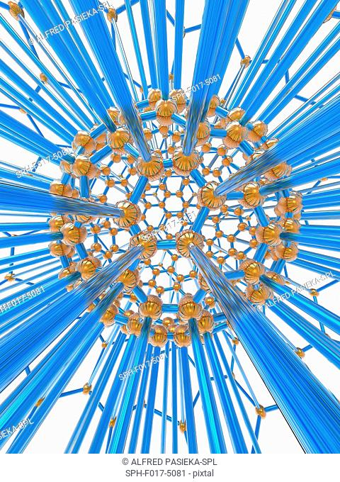Nanoparticle, computer artwork