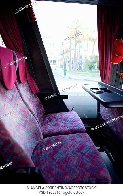 Interior of a touristic bus