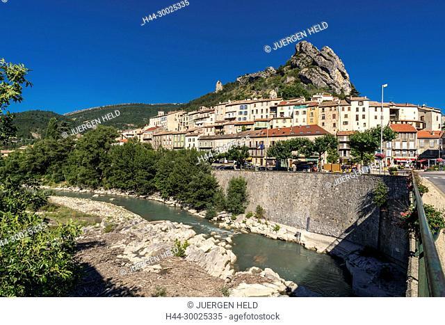 France, Hautes-Alpes, Alpes de Haute Provence, Serres, Buëch River