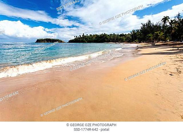Waves on the beach, Cerro Gordo, Vega Alta, Puerto Rico