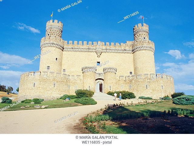 Castle  Manzanares El Real, Madrid province, Spain