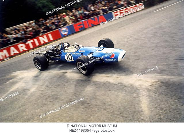 Jean-Pierre Beltoise driving a Matra, Belgian Grand Prix, Spa-Francorchamps, 1968, on his way to finishing 8th. The 1972 Monaco Grand Prix was the only Formula...