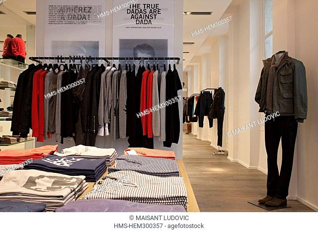France, Paris, Saint Germain des Pres District, Zadig & Voltaire shop