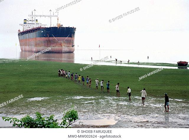 Workers at a shipbreaking yard in Chittagong 2004 Though shipbreaking-yards meet almost 80 of the scrap iron required for the domestic steel industry and also...