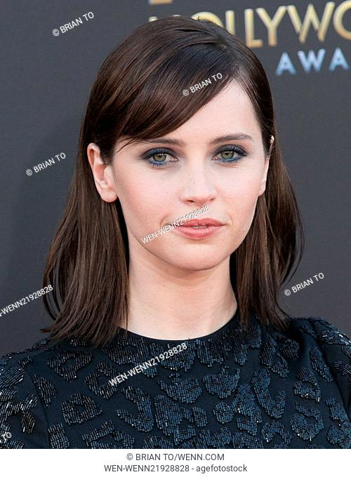 18th Annual Hollywood Film Awards at the Hollywood Palladium - Arrivals Featuring: Felicity Jones Where: Los Angeles, California