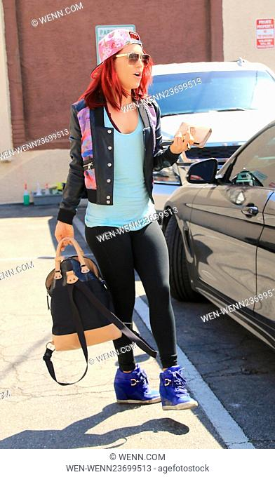 Celebrities at the 'Dancing with the Stars' rehearsal studios Featuring: Sharna Burgess Where: Hollywood, California, United States When: 02 Apr 2016 Credit:...
