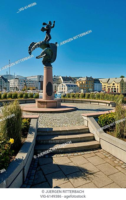 NORWAY, ÅLESUND, 30.06.2018, Monument of the people going to England during 2nd World War, Ålesund, Norway, Europe - Ålesund, Møre og Romsdal, Norway