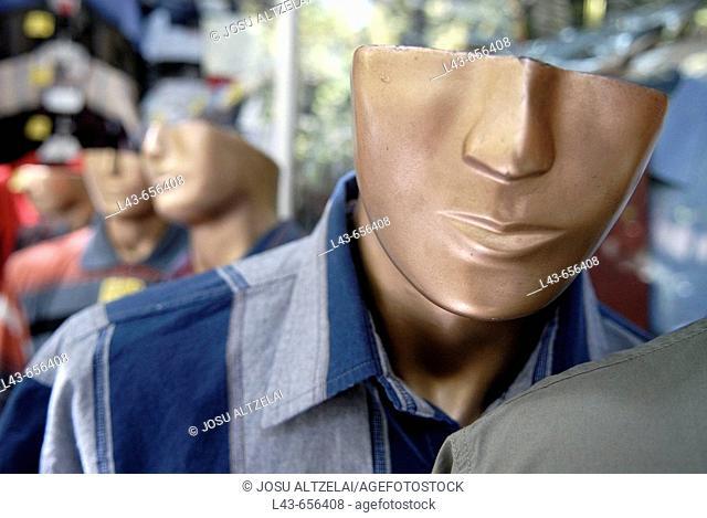 Mannequins. Bazaar, Iran