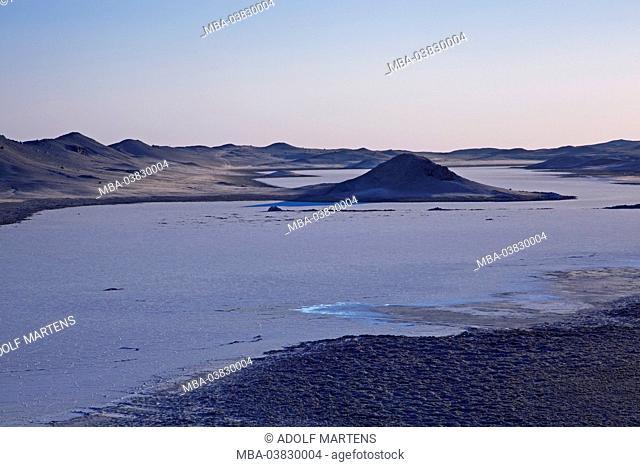 Africa, Namibia, Erongo region, Namib desert, Dorob park, dusk