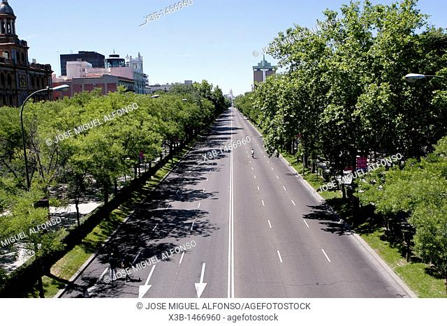 Empty streets of Madrid in Summer