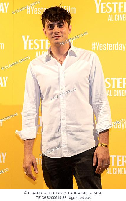 Alessandro Casillo during the photocall of film ' Yesterday ' in Milan, ITALY-20-06-2019