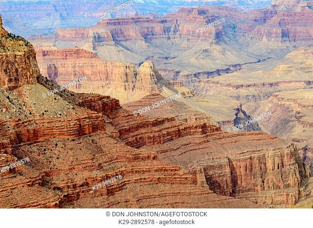 The Grand Canyon from Hermit's Rest, in winter, Grand Canyon National Park, Arizona, USA