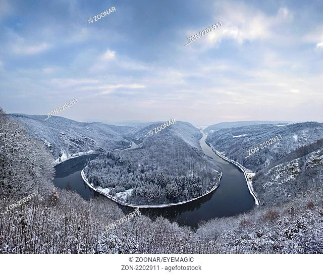 saar loop near Mettlach, Saarland, Germany
