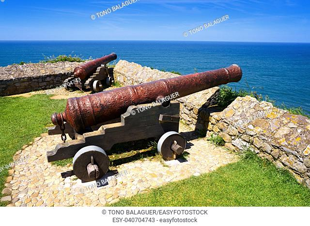 Ribadesella la Guia canon in Asturias of Spain