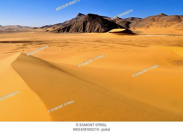Algeria, View of Dunes Noires at Tadrart
