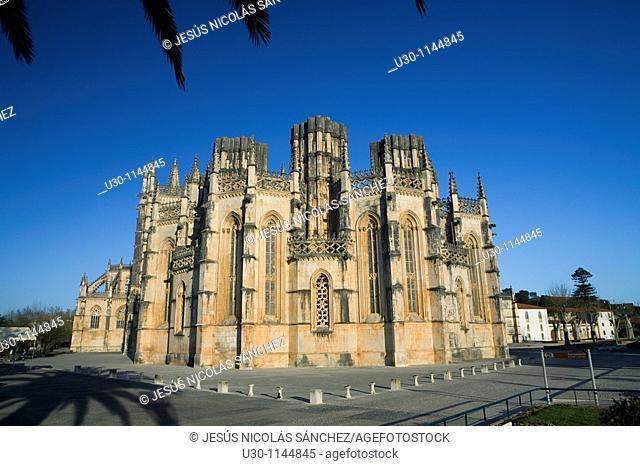 Monastery of Santa Maria da Vitoria, also called Batalha Monastery, declared World Heritage by UNESCO in Batalha  Leiria district  Portugal