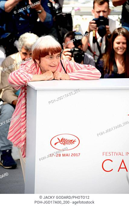 """Photocall of the film """"""""Visages, villages"""""""" Agnès Varda 70th Cannes Film Festival May 19, 2017 Photo Jacky Godard"""