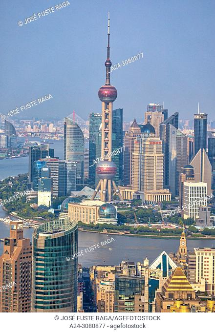 China, Shanghai City, Pudong District, Lujiazui Area, Oriental Pearl Tower