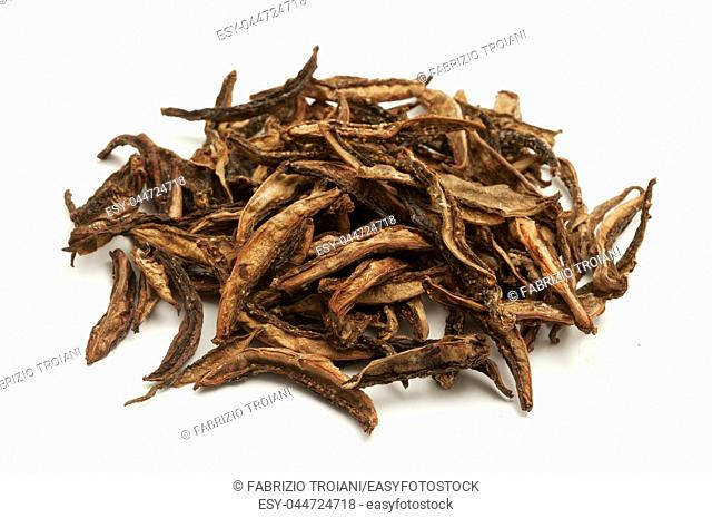 Dried bilimbi on a white background