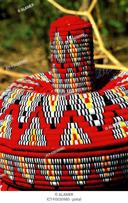 Ethiopia, Bahar Dar, market, handicrafts, mesob