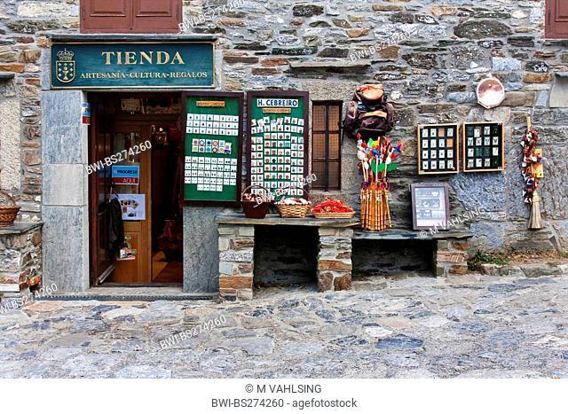souvenir shop, Spain, Galicien , Lugo, O Cebreiro