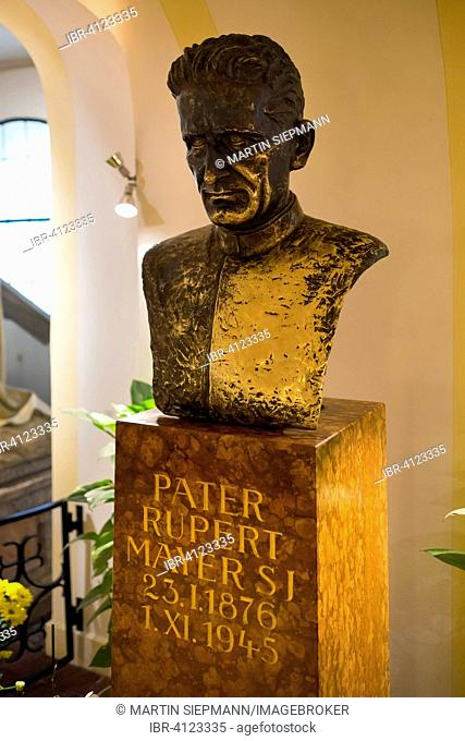 Monument to Father Rupert Mayer in the lower church of the Bürgersaalkirche church, historic centre, Munich, Upper Bavaria, Bavaria, Germany