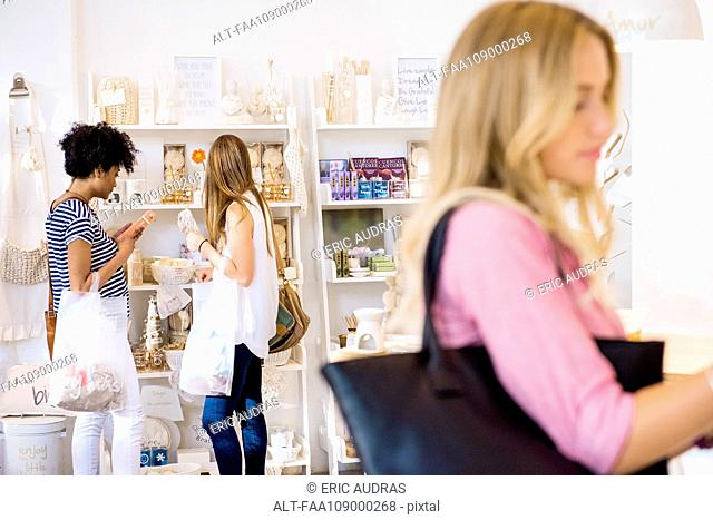 Women shopping in boutique