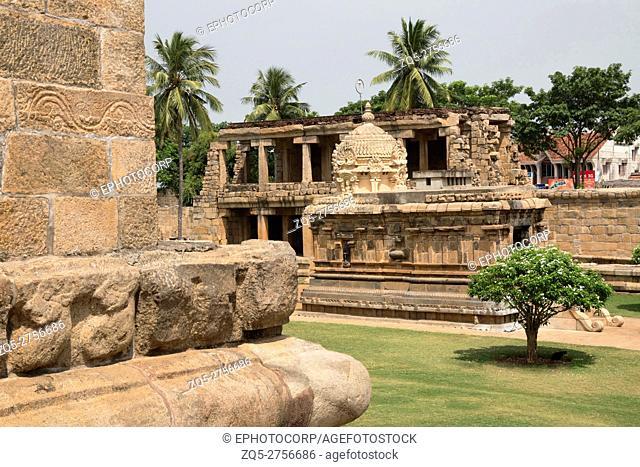 Mahishasuramardini or Durga shrine, Brihadisvara Temple complex, Gangaikondacholapuram, Tamil Nadu, India
