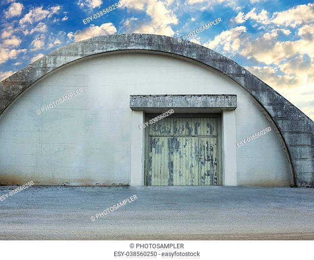 Old military hangar used to storage stuff