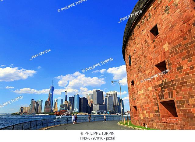 Usa, New-York City. Governors Island. Clinton fortress