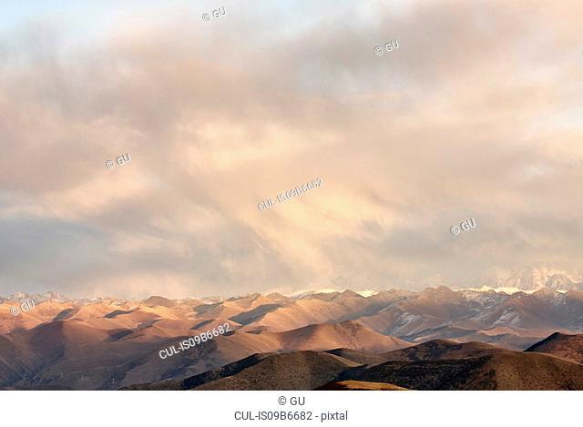 View from Gaoersi Mountain, Sichuan, China