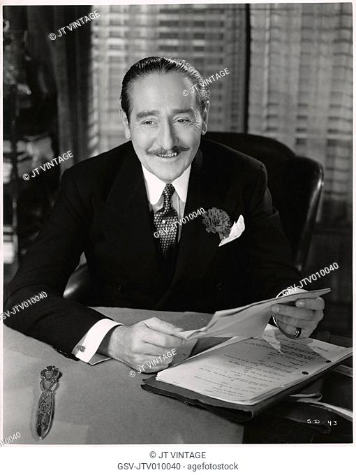 Adolphe Menjou, Publicity Portrait for the Film, Stage Door, RKO Radio Pictures, 1937